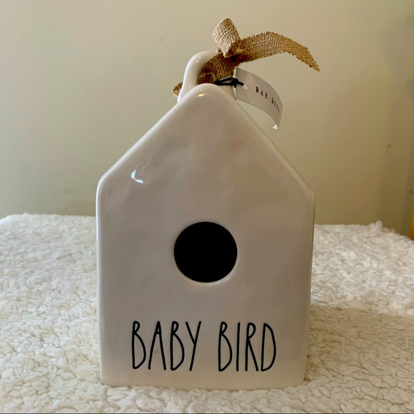 BNWT Rae Dunn White BABY BIRD Ceramic Bird House